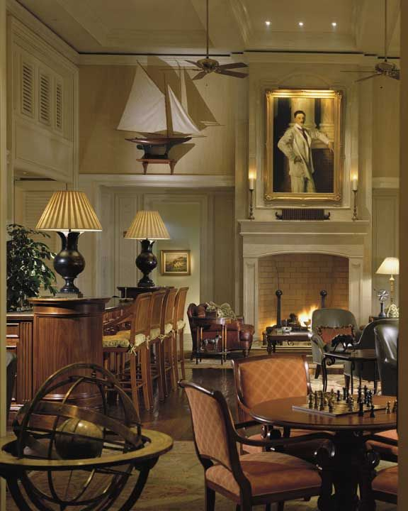 The Gentlemen's Room or Lobby Bar at The Sanctuary Hotel - up-lighting/down-lighting, neutral palette