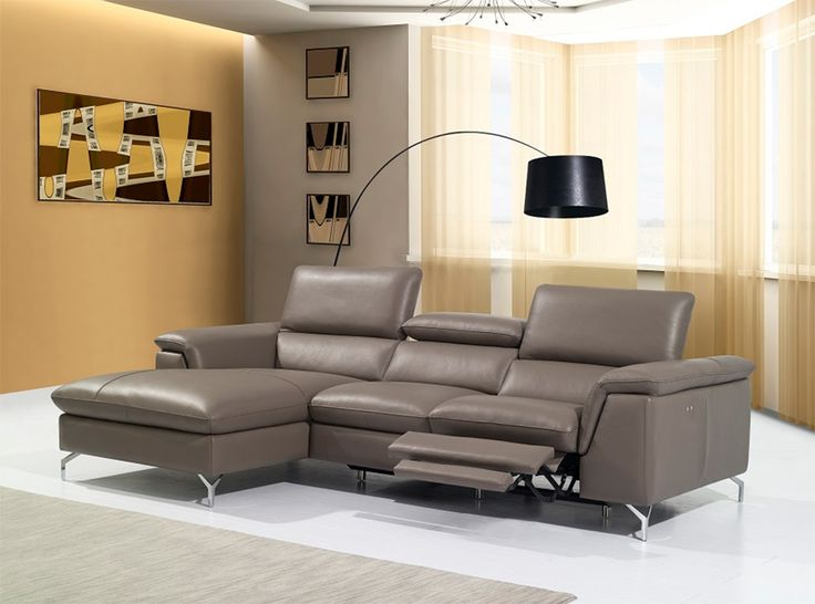 Angela Recliner Sectional Sofa by J : sectional sofas with chaise and recliner - Sectionals, Sofas & Couches