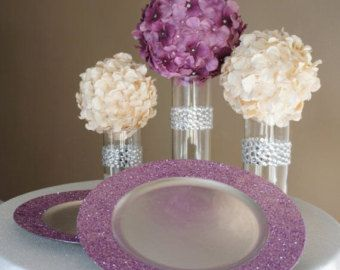 Glitter Charger Plates  Glitter on Rim Only by TableSettingsCo