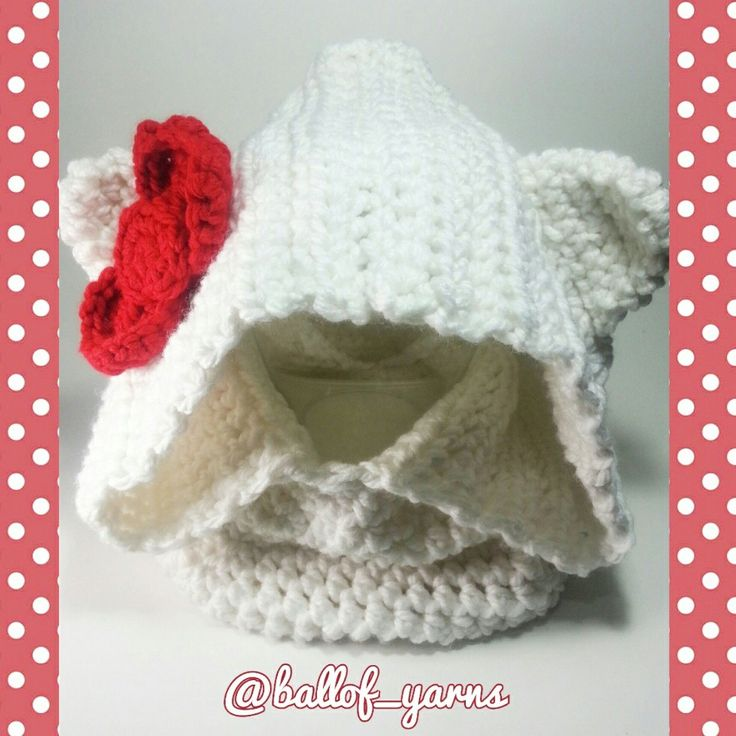 #Hellokitty inspired #cowl #hoodie  ready for this winter
