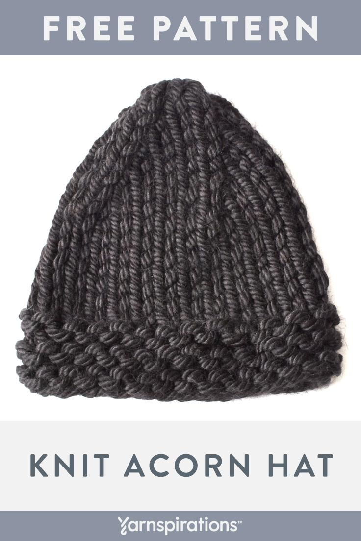 This free beginner-friendly knit hat pattern works up ...