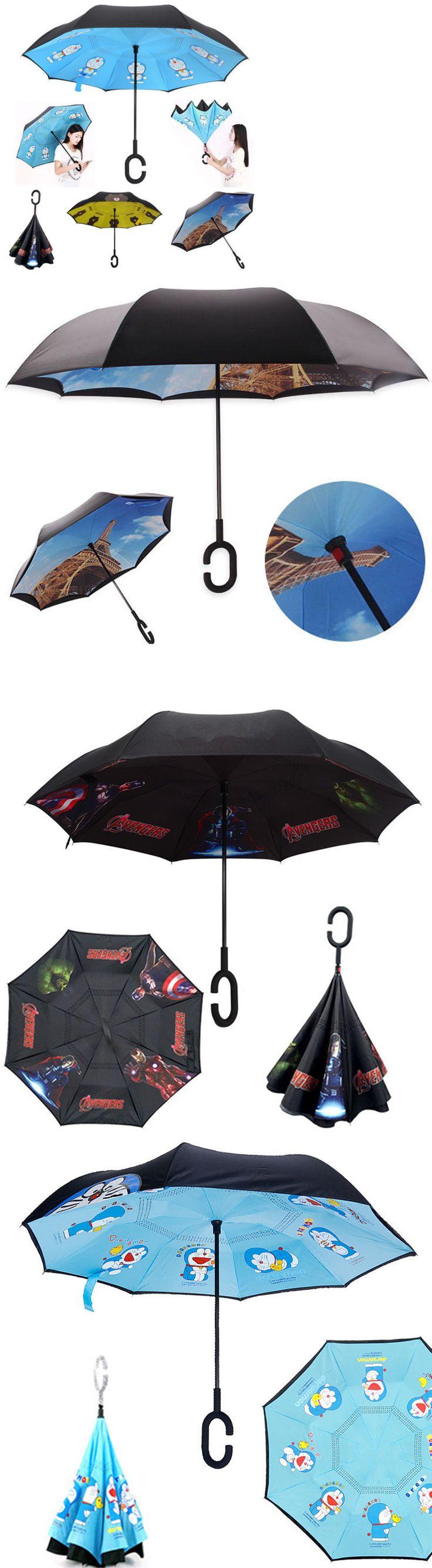 Umbrellas 105569: New Pokemon Go Pikachu C-Handle Car Rain Umbrella Double Layer Inverted Parasols -> BUY IT NOW ONLY: $32.38 on eBay!
