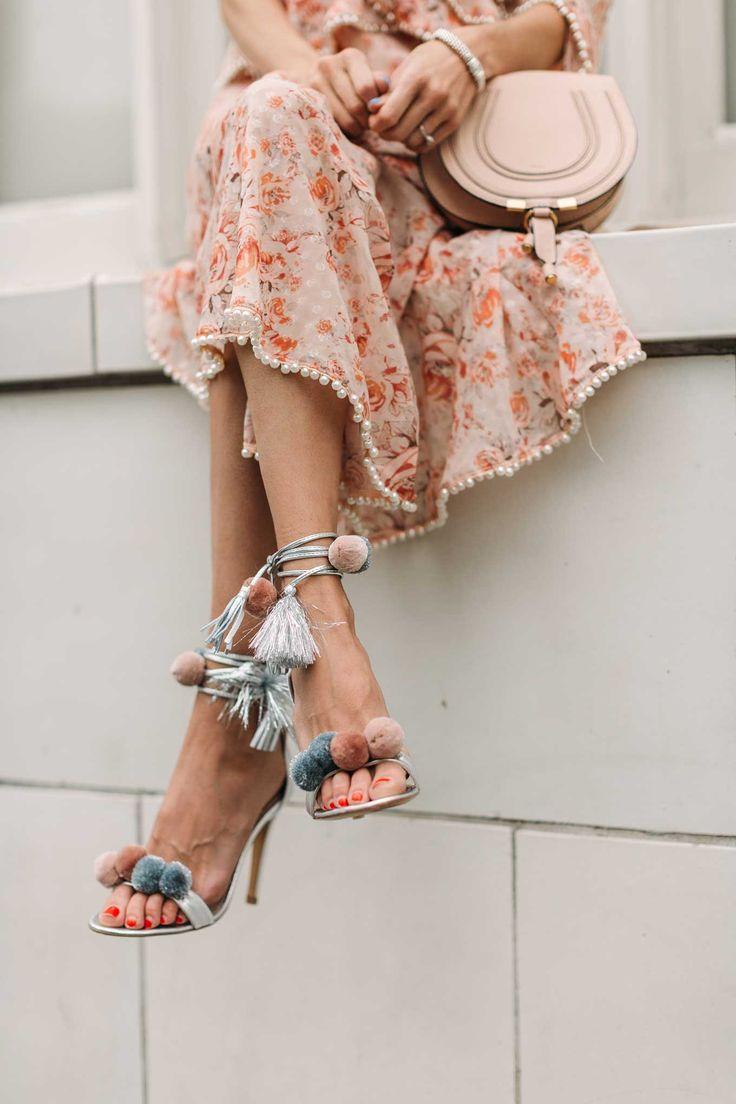 Pom Pom Wrap Sandals at SHOPBOB #sandals #athoughtcloser