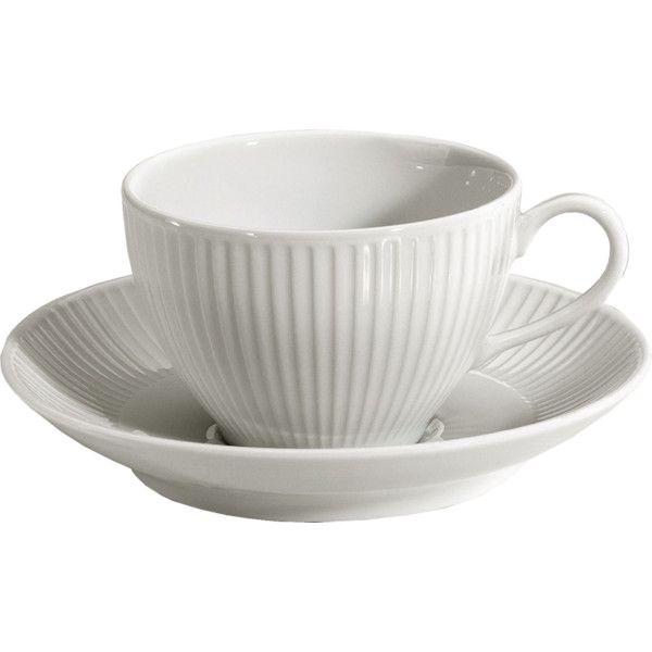 Pillivuyt White Porcelain Plisse Paire Tasse Cafe  sc 1 st  Pinterest & 7 best Pillivuyt\u0027s Plisse Dinnerware images on Pinterest | Dinner ...