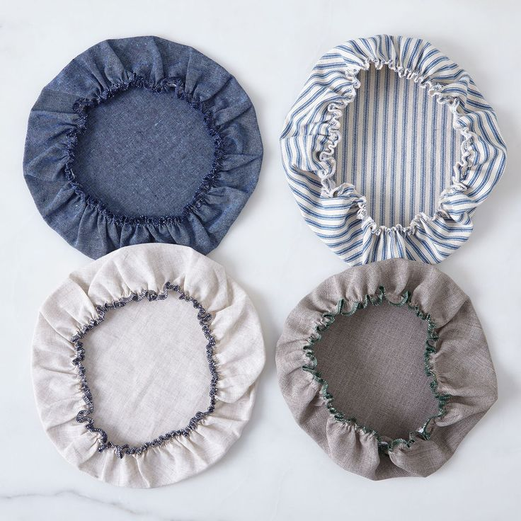 Linen & Cotton Bowl Covers (Set of 6) - not sure which is better the linen or the cotton