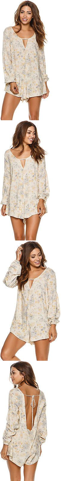 Jumpsuits And Rompers: New Saltwater Luxe Women S Wallflower Romper V-Neck Rayon White -> BUY IT NOW ONLY: $127.95 on eBay!