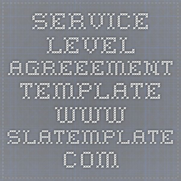Best 25+ Service level agreement ideas on Pinterest Viral - service level agreement template