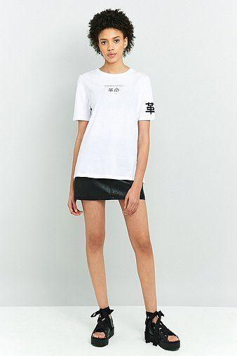 cool BDG - T-Shirt in Schwarz mit Grafik - Damen 36