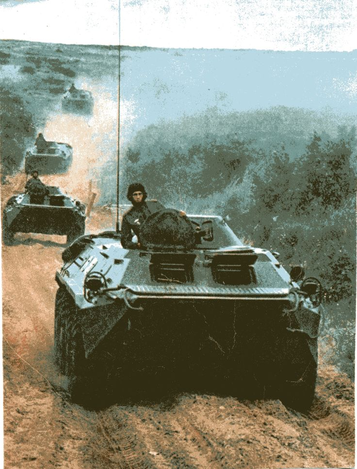 БТР-70 на учениях Советской армии/ BTR-70 Soviet armoured personnel carrier on the teachings