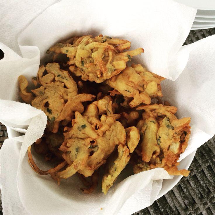 Onion Bhaji yum!