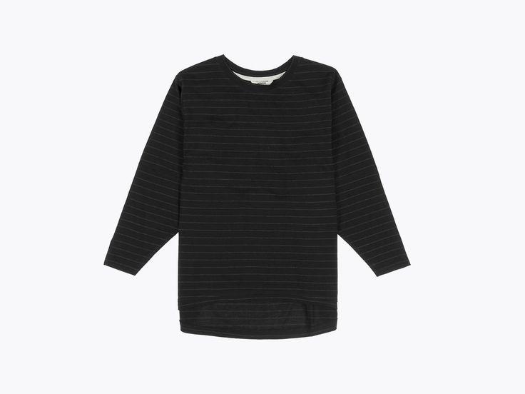 Wemoto Brighton stripe t-shirt - Black/black melange