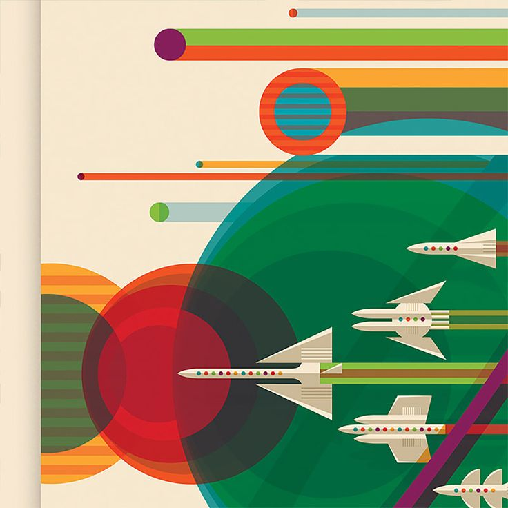 Ide Terbaik Tentang Nasa Posters Di Pinterest Poster Retro - Retro style posters from nasa imagine how the future of space travel will look