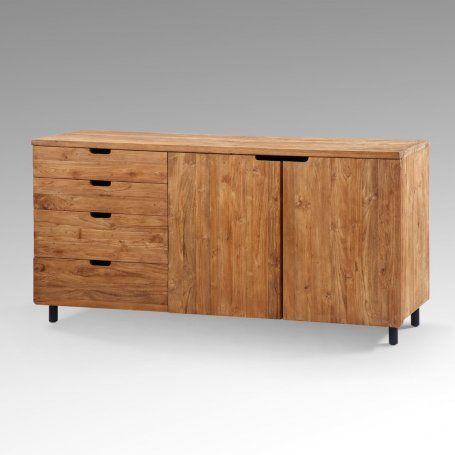 BUFFET TECK MASSIF STYLE VINTAGE MERAPI #Soldes2017 #promotions #ameublement #designinterieur #mindi #artisanat #meuble #vintage #faitmain #mobilier #home #design #interieur #deco