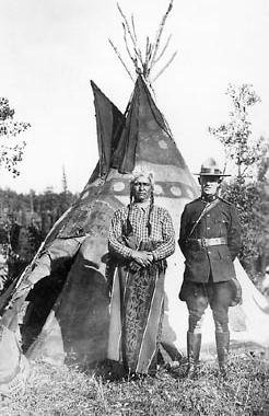 Spotted Eagle (Assiniboine), Constable Robert J. Threadkell, RCMP - 1921 {Note: RCMP = Royal Canadian Mounted Police}