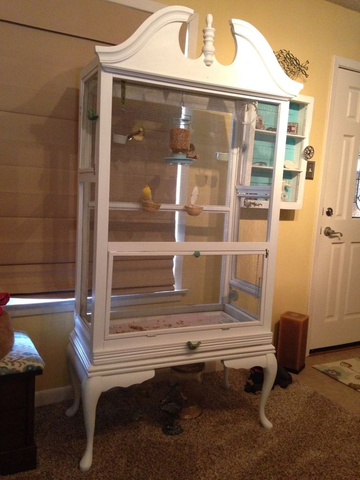 Highboy dresser turned Canary Aviary Furniture ideas