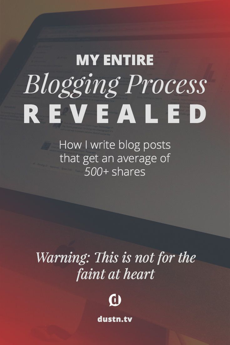 Warning: This is not for the faint at heart. However, this is how I write blog posts that get an average of 500+ shares and thousands of pageviews every time.