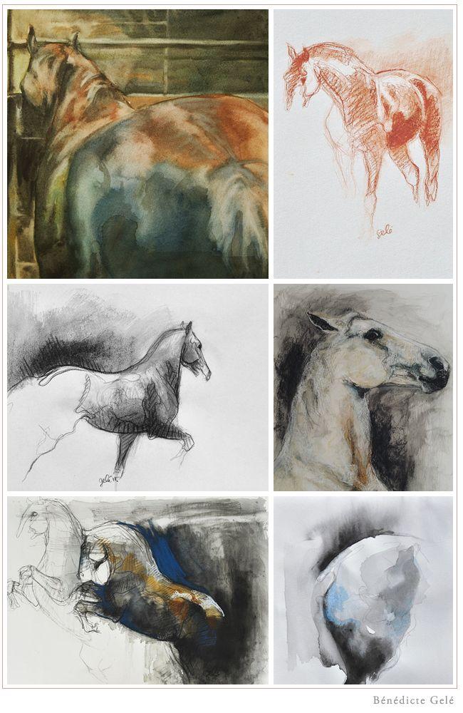 Equestrian inspiration for our autumn look book.   Art Studio: Bénédicte Gelé
