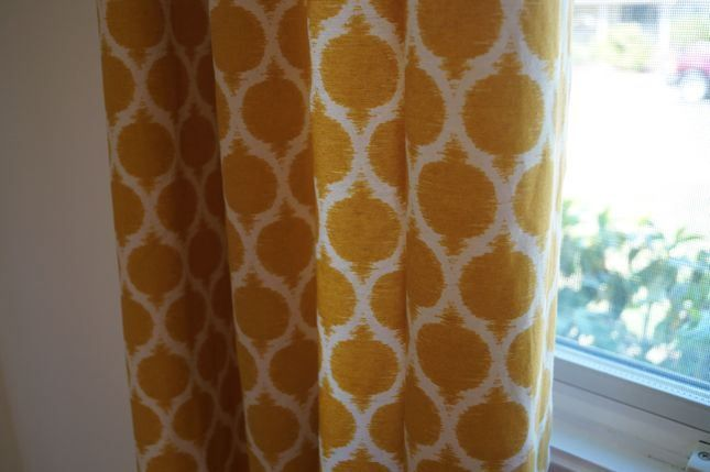 Yellow curtains ~ exactly what I'm looking for in the Living Room :)