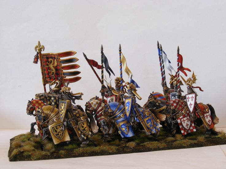 CoolMiniOrNot - Bretonnian Knight of the Realm Unit by Eclipseddstny