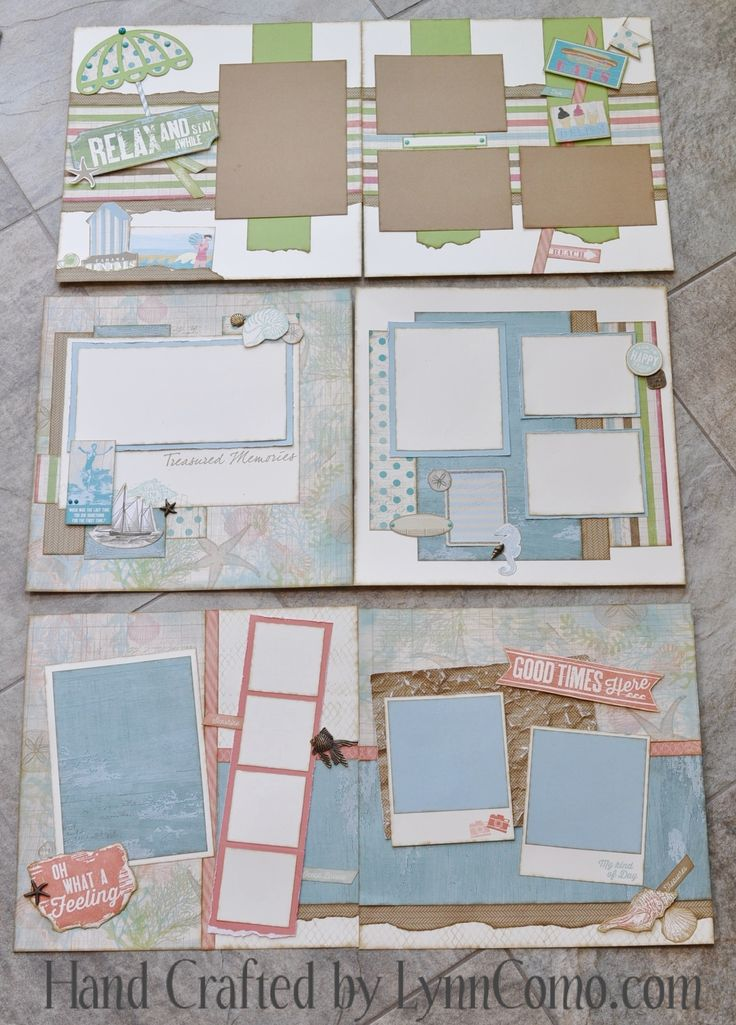 #CTMH Seaside Scrapbook Layouts                                                                                                                                                                                 Mehr