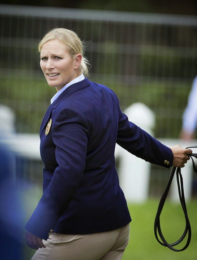 Back to the day job: Zara will compete with Team Great Britain at the World Equestrian Games in France next week and hopes to secure her tea...