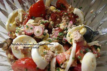 recette Salade tomates/oeufs/radis/thon