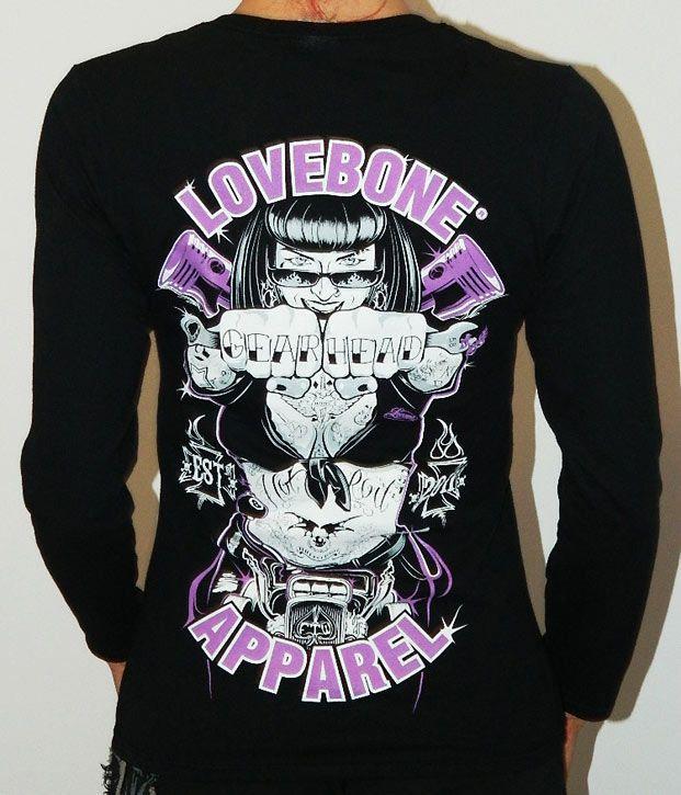 Gear Head ladies long sleeve t-shirt. #Lovebonecustomtees