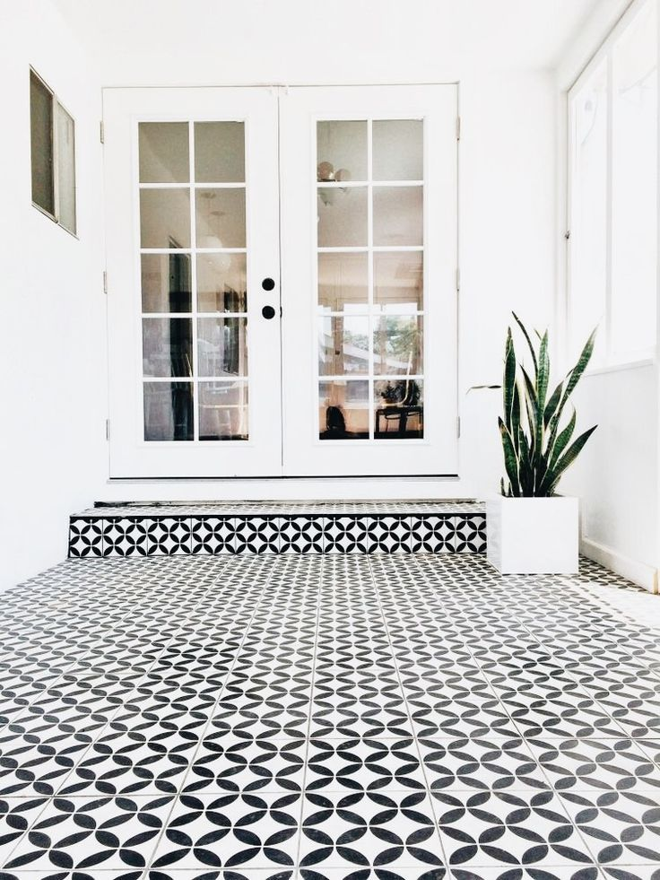 Black And White Tile White Exterior Houses House Designs