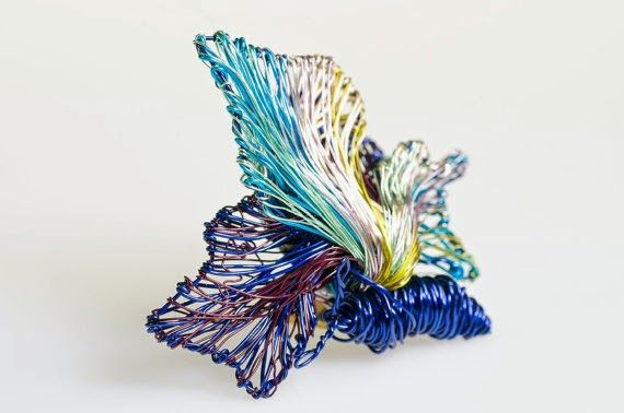Vassiliki Mikropoulou-vmikro.blogspot.com: www.vmikro.etsy.com Blue art jewelry #Blue #Butterfly...Blue art jewelry Blue Butterfly brooch #Blue #broochpin #Butterflyjewelry #Insect jewelry Insect brooch #Wearableart jewelry #Wirebutterflies.  This is a blue butterfly brooch blue art jewelry made of colored copper and silver wire. The height of the butterfly blue brooch pin butterfly, insect jewelry is 5.5cm (2.17in) and the width (body with wings) of the wire butterfly wearable art jewelry…