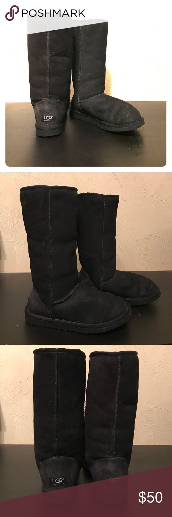 UGG Classic Tall Women's Boots in Black These boots are in great condition and we're only worn a handful of times. Pretreated with suede protector and water repellant. UGG Shoes Winter & Rain Boots