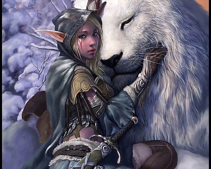 With Lion Elf Fantasy Girl Wallpaper Warrior Free Download Tattoo