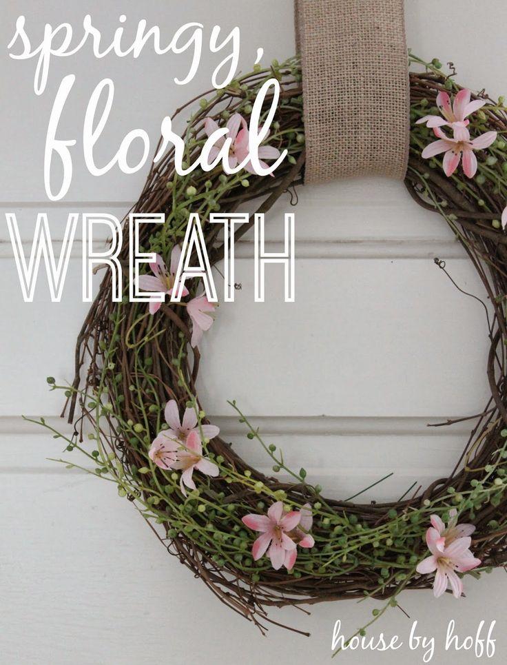 Diy u2022 Spring wreath via housebyhoffcom 1295