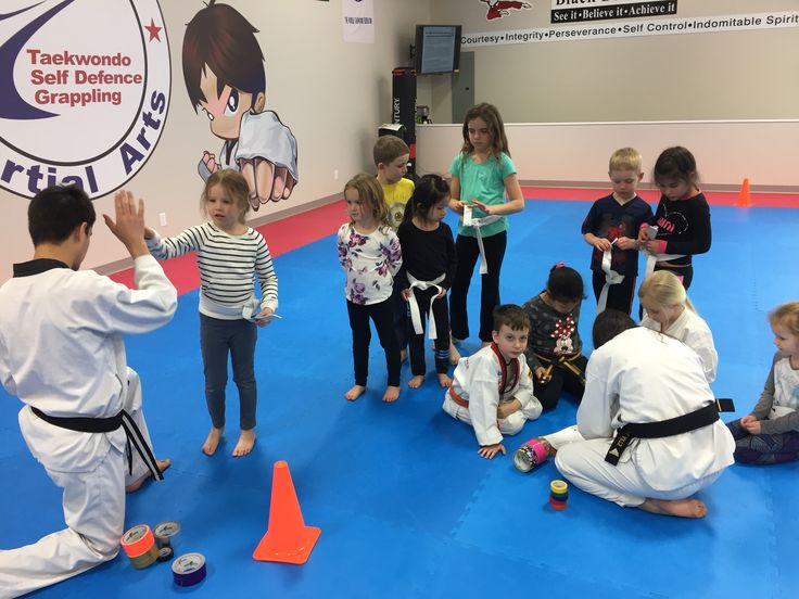 Stripes earned and awarded today!! Great job day campers 🏅  www.glenmoremartialarts.com 250-868-8690  #promotion #belt #awards #congrats #martialarts #glenmoremartialarts #kelowna #glenmore #daycamp #springbreak