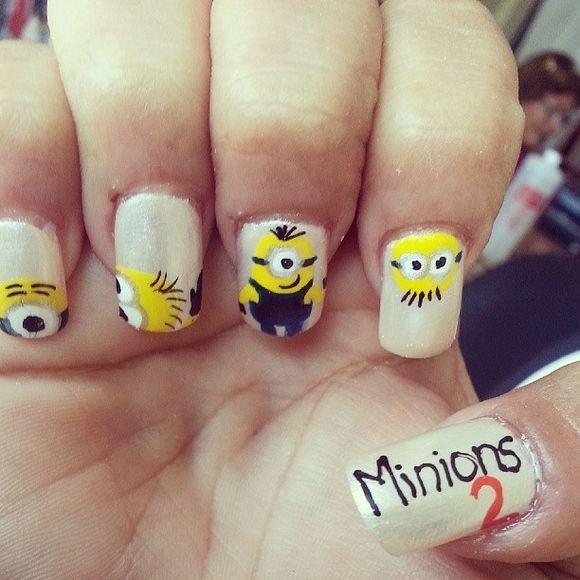 50 Adorable Despicable Me Minion Nail Designs photo Callina Marie's photos