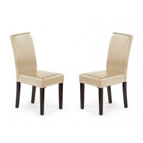 Krzesło Luigi Halmar beż zestaw 2 sztuk