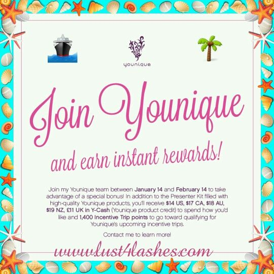 Jump on board the Cruise Ship with my Growing Team!  Ask me how! www.lust4lashes.com