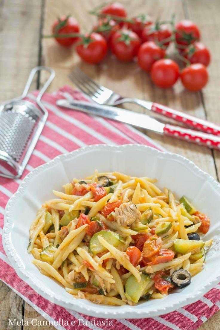 trofie capricciose con tonno pomodorini e olive--