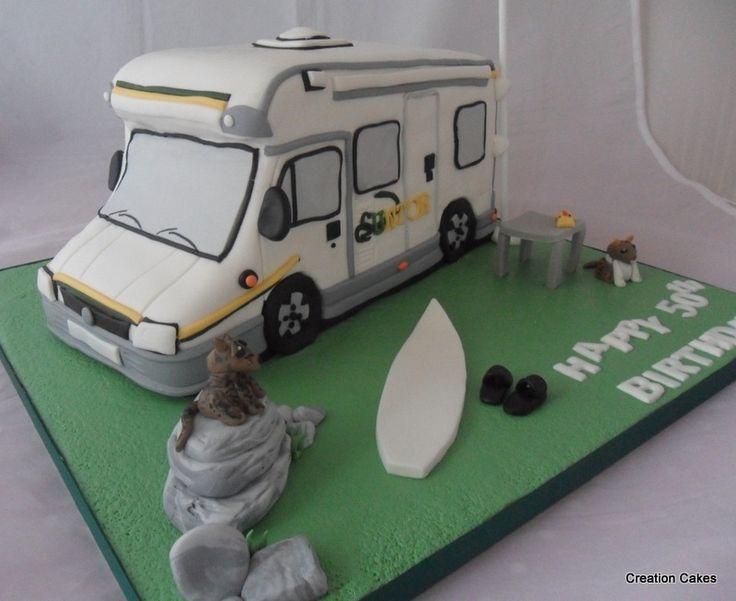 New RV Cake  Camping Cakes  Pinterest