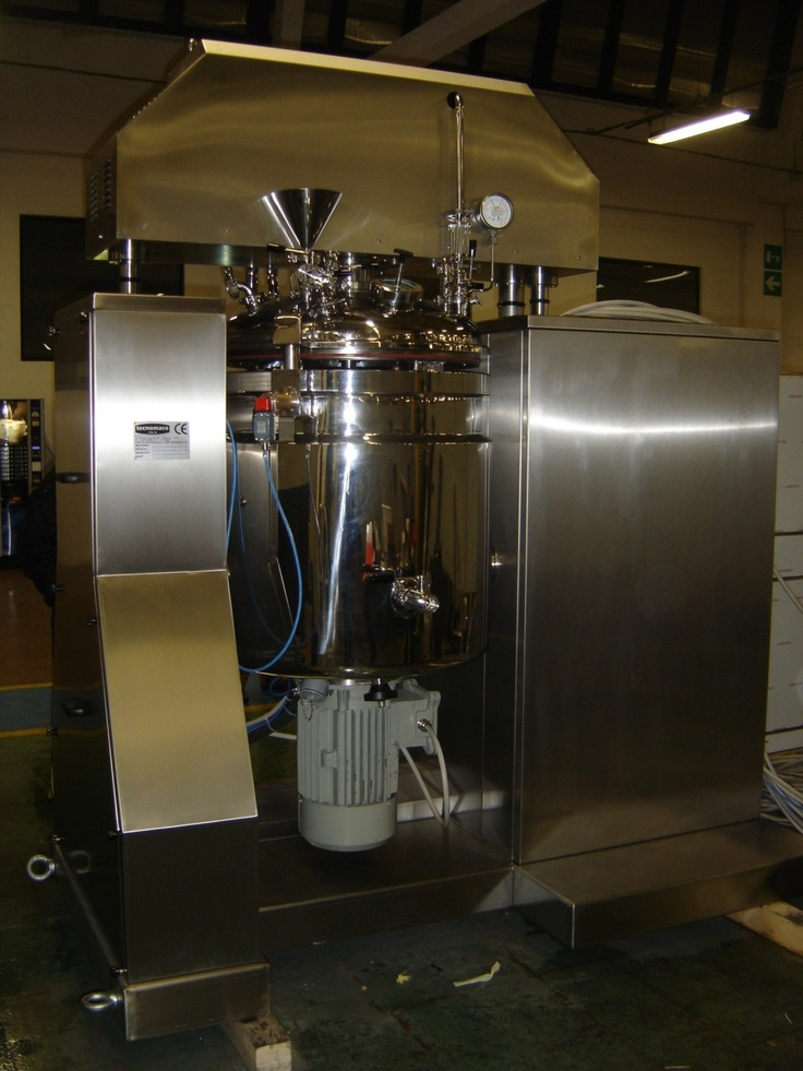 This is a vacuum turbo emulsifier used for processing both liquid and creamy products within the cosmetic, chemical and pharmaceutical industries.
