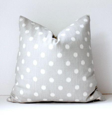 Smoke Grey cream polka dots