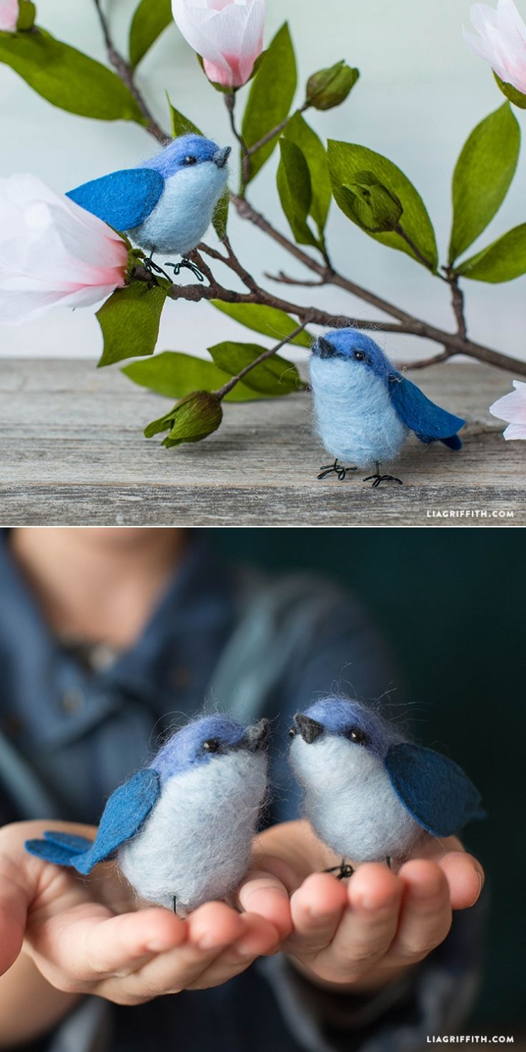 #NeedleFelting tutorial at www.LiaGriffith.com: