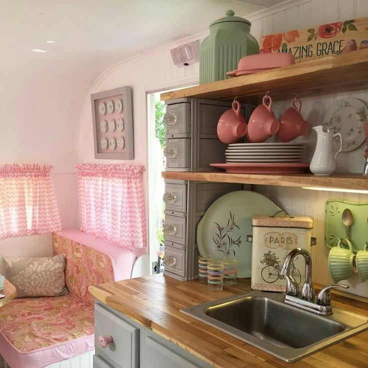 17 Best Images About Vintage Camper Decor On Pinterest Rv Interior Retro Campers And Glamping