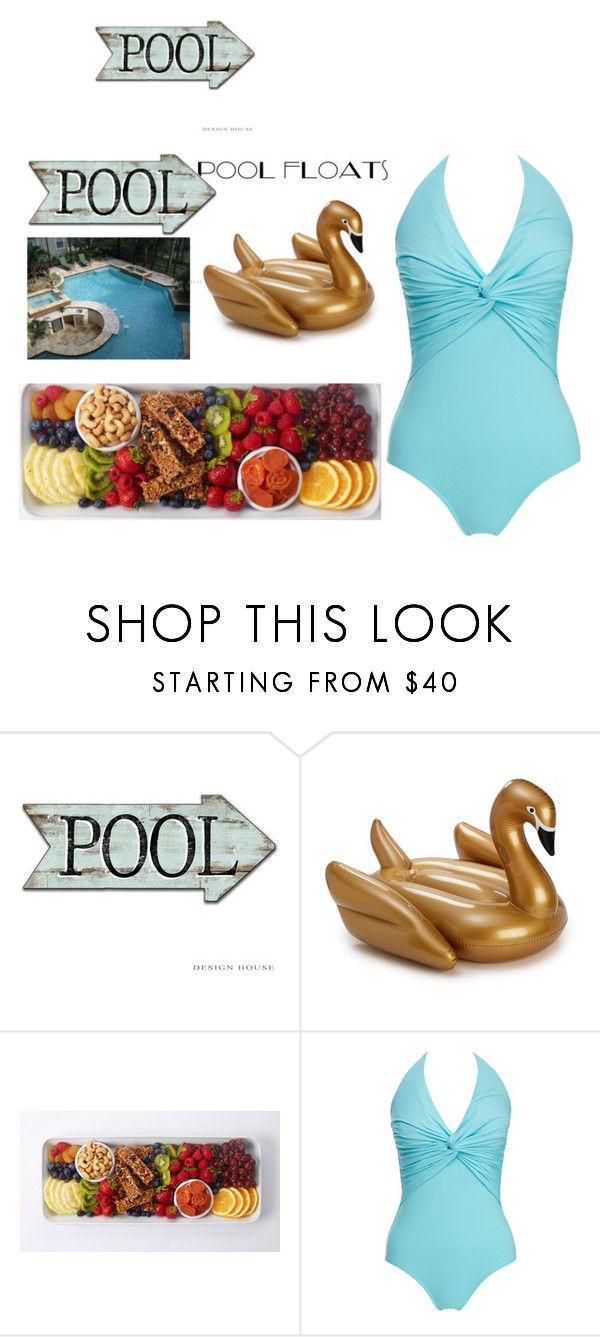"""Pool Party Outfit and MORE!!"" by princezz-suga ❤ liked on Polyvore featuring Melissa Odabash"