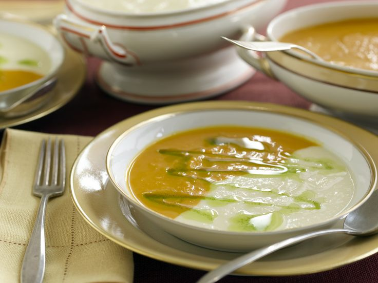 Roasted Butternut Squash Soup and Roasted Parsnip Soup from FoodNetwork.com - This soup duo is so impressive once served. I made this once for Thanksgiving dinner and there was no leftovers. Thank you Emeril!: Butternut Squash Soups, Roasted Parsnip, Soups Recipes, Roasted Butternut Squash, Parsnip Soups, Squashes, Maple Syrup, Soup Recipes, Emeril Lagasse