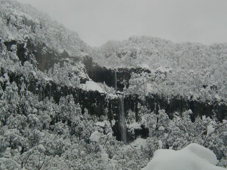 Waterfall During Snow Storm – Termas de Chillan - Only in South America