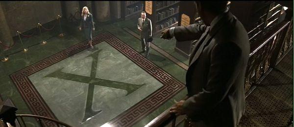 """""""INDIANA JONES E L'ULTIMA CROCIATA"""" di Steven Spielberg. In questo film il protagonista, ovviamente Indiana Jones, si reca a Venezia per andare alla Biblioteca """"Marciana"""" dove trova una traccia per la ricerca del Stanto Graal. Nel lungometraggio è visibile una panoramica dall'alto della sala della biblioteca."""