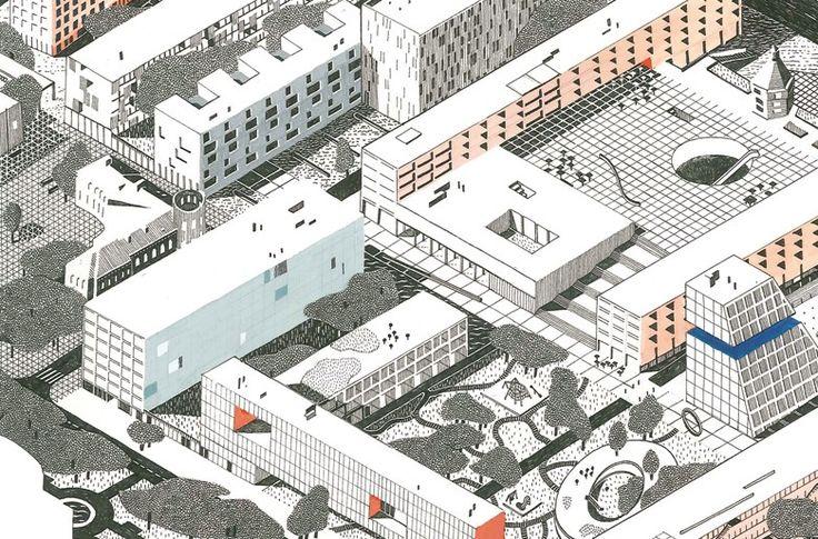 EVA LE ROI - Concours d'urbanisme à Belgorod, Russie, avec les architectes Pierre Burquel, Benoît Burquel et Paul Mouchet.
