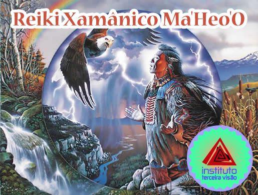 Reiki Xamânico Ma'Heo'O combina a sutileza do Reiki com a força do poder dos elementos Terra, Ar, Água e Fogo com o Grande Espírito (Grande Uno ou Deus) para promover a CURA ENERGÉTICA.  É um sistema simples, mas poderoso que pode ser usado por qualquer pessoa.  É uma energia de amor, respeito e proteção, promove calma, paz e relaxamento.  Saiba mais em: https://portalgaia.com/loja/reiki-xamanico-maheoo/