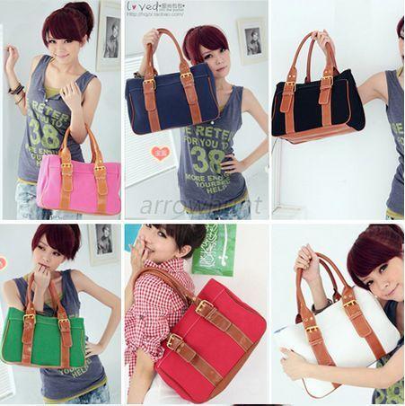 Lady-Shoulder-Bag-Handbag-Tote-Purse-New-Fashion-PU-Leather-Women-Messenger-Hobo
