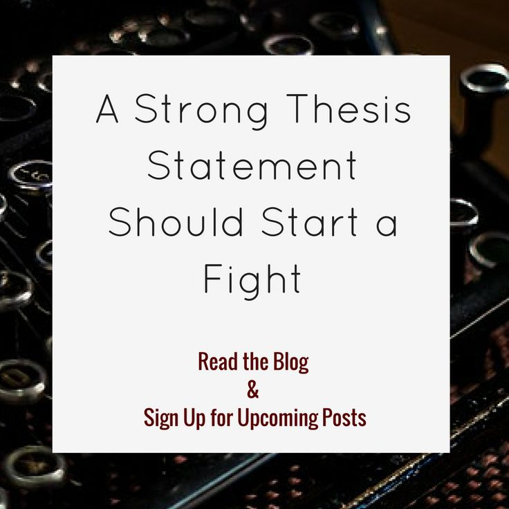Thesis sign